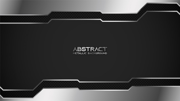 Black and silver metallic industrial chrome background