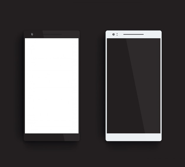 Black and silver smartphones