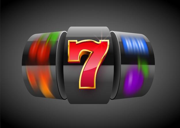 Black slot machine wins the jackpot. big win concept. casino jackpot.