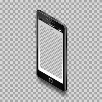 Black smartphone template design for app