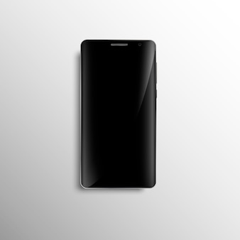 Black smartphone with curved screen