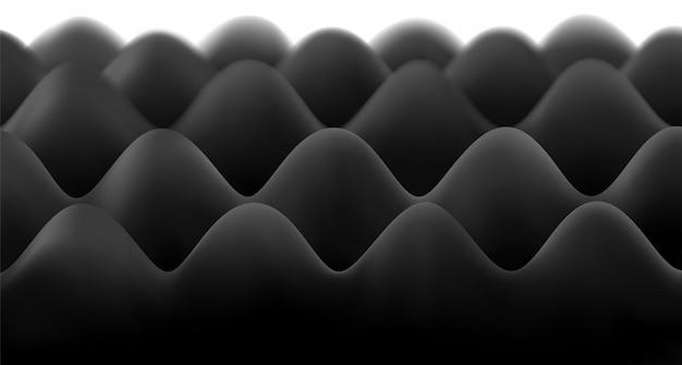 Black soundproof foam sheet for the studio.