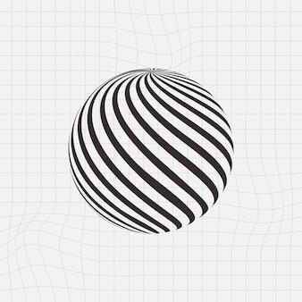 Black sphere 3d shape
