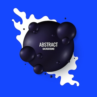 Black spheres on a bright background. abstract illustration with three-dimensional forms.