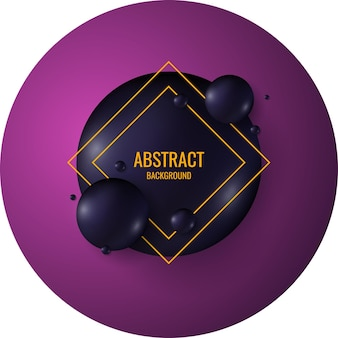 Black spheres on a bright background. abstract illustration.