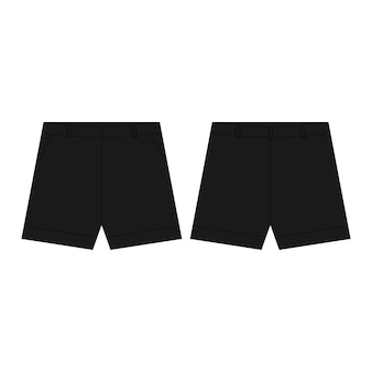 Black sport shorts pants isolated  . man's wear.