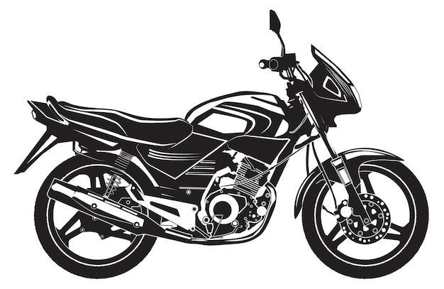 黒のスポーツバイク。オートバイ。 Premiumベクター