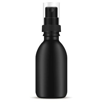 Black spray pump bottle