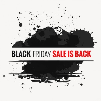 Black stains with black friday banner
