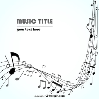 Black stave with music notes background Premium Vector