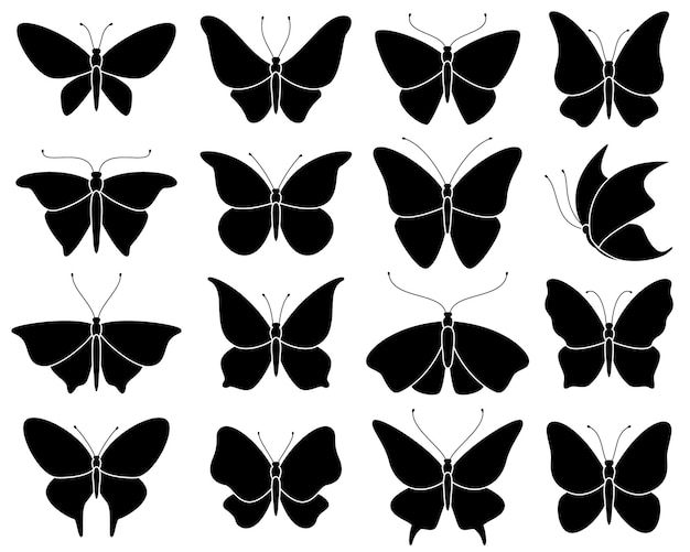 Black stencil insect pattern