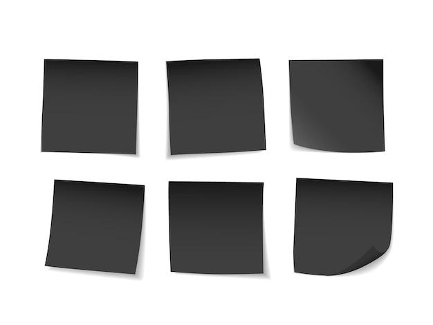Black sticky notes set