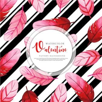 Black Stripe Valentine Background
