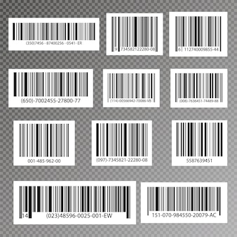 Black striped code for digital identification, realistic bar code icon.