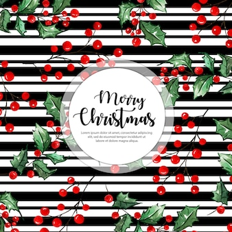 Black stripes christmas background