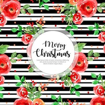 검은 줄무늬 크리스마스 배경
