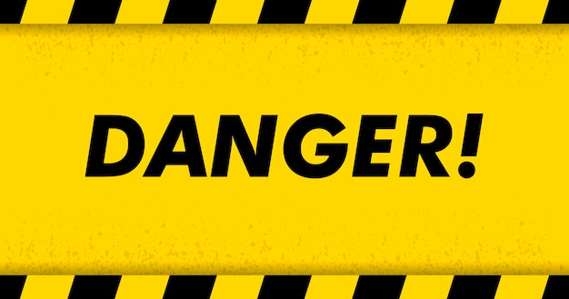 Black stripped rectangle on yellow background. blank warning sign. warning background. template. vector illustration