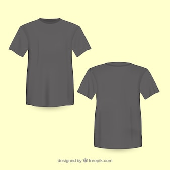 Black t-shirt front and back