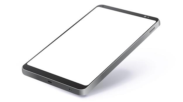 Реалистичный черный планшетный компьютер