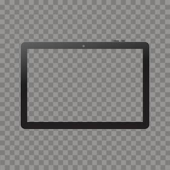 Black tablet mock up on white isolated