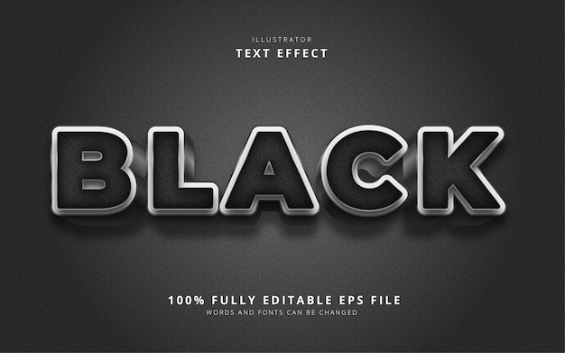 Black text effect