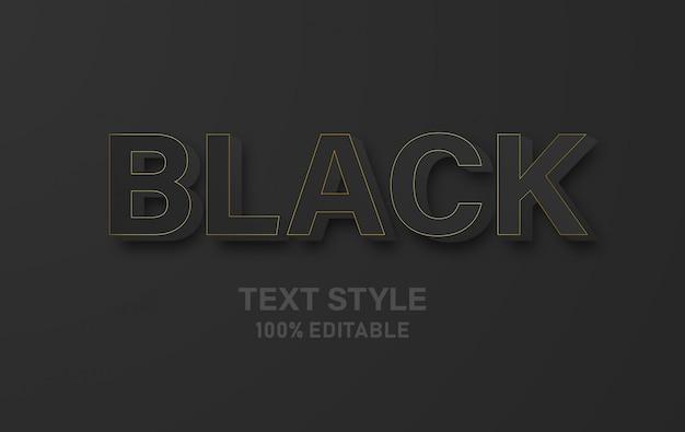 검은 텍스트 스타일 3d.
