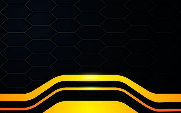 Black texture background with modern gold dimension layers