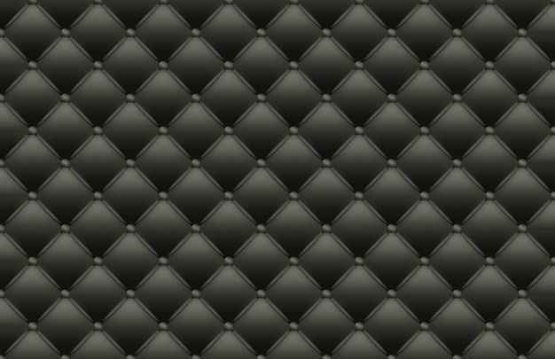 Black texture of the leather quilted skin