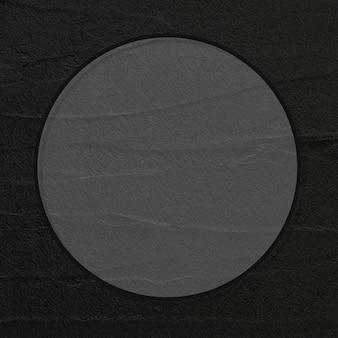 黒のテクスチャラウンドフレームベクトル