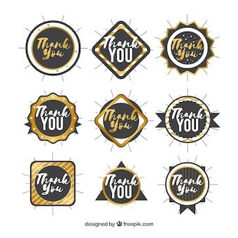Black thank you logo collection
