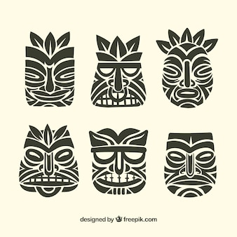 Black tiki mask collection