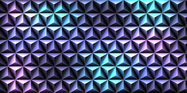 Black triangle pattern background.