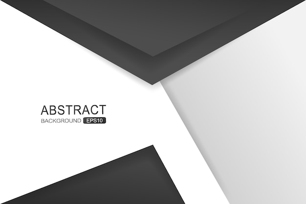 Black triangle vector background overlap layer