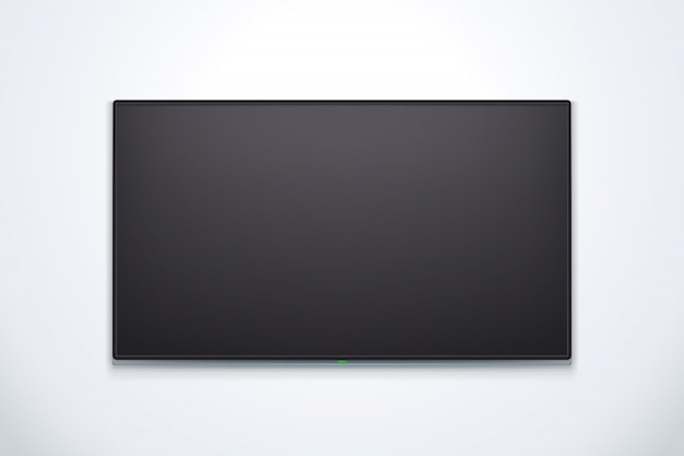 Black tv with shadow