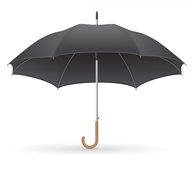 Black umbrella vector illustration