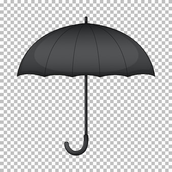 Black umbrella with no graphic on