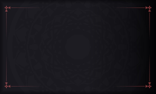 Black vector background with ornaments and place for your logo. design background with vintage ornament.