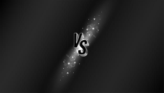 Black versus vs comparison screen background