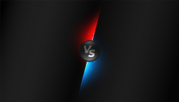 Black versus vs screen competition background design