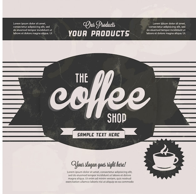 Black vintage coffee background