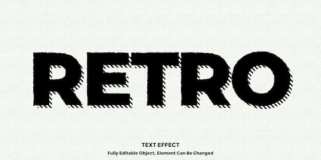 Black vintage text effect