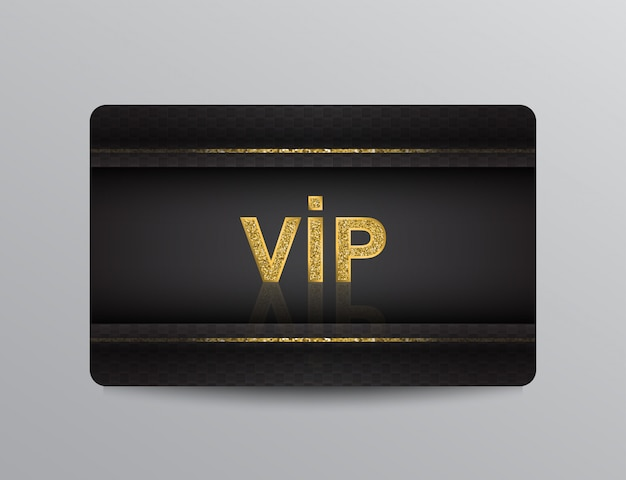 Black vip card with glittering elements