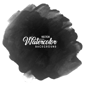 Black watercolor brushes background