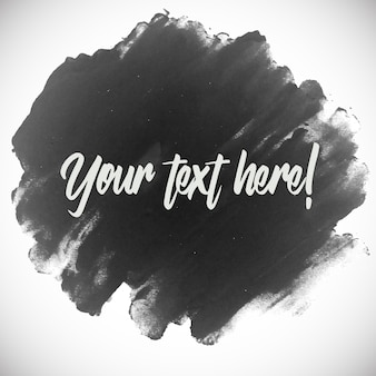 Black watercolor brushes with text