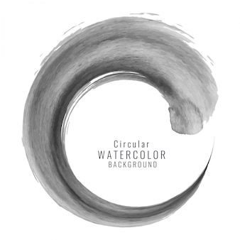 Black watercolor circular background