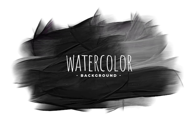 Black watercolor grunge texture stain background