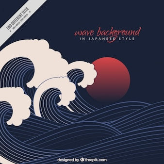 Japan vectors photos and psd files free download black wave background in japanese style yelopaper Gallery
