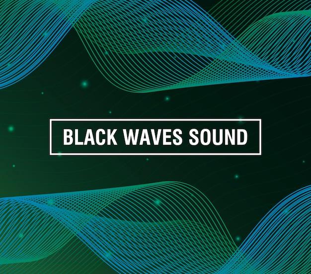 Черные волны звучат зеленым фоном