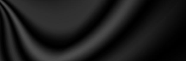 Black wavy banner