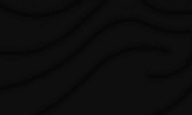 검은 물결 모양의 패브릭 배경입니다. 아름다운 웹사이트를 위한 패턴입니다.